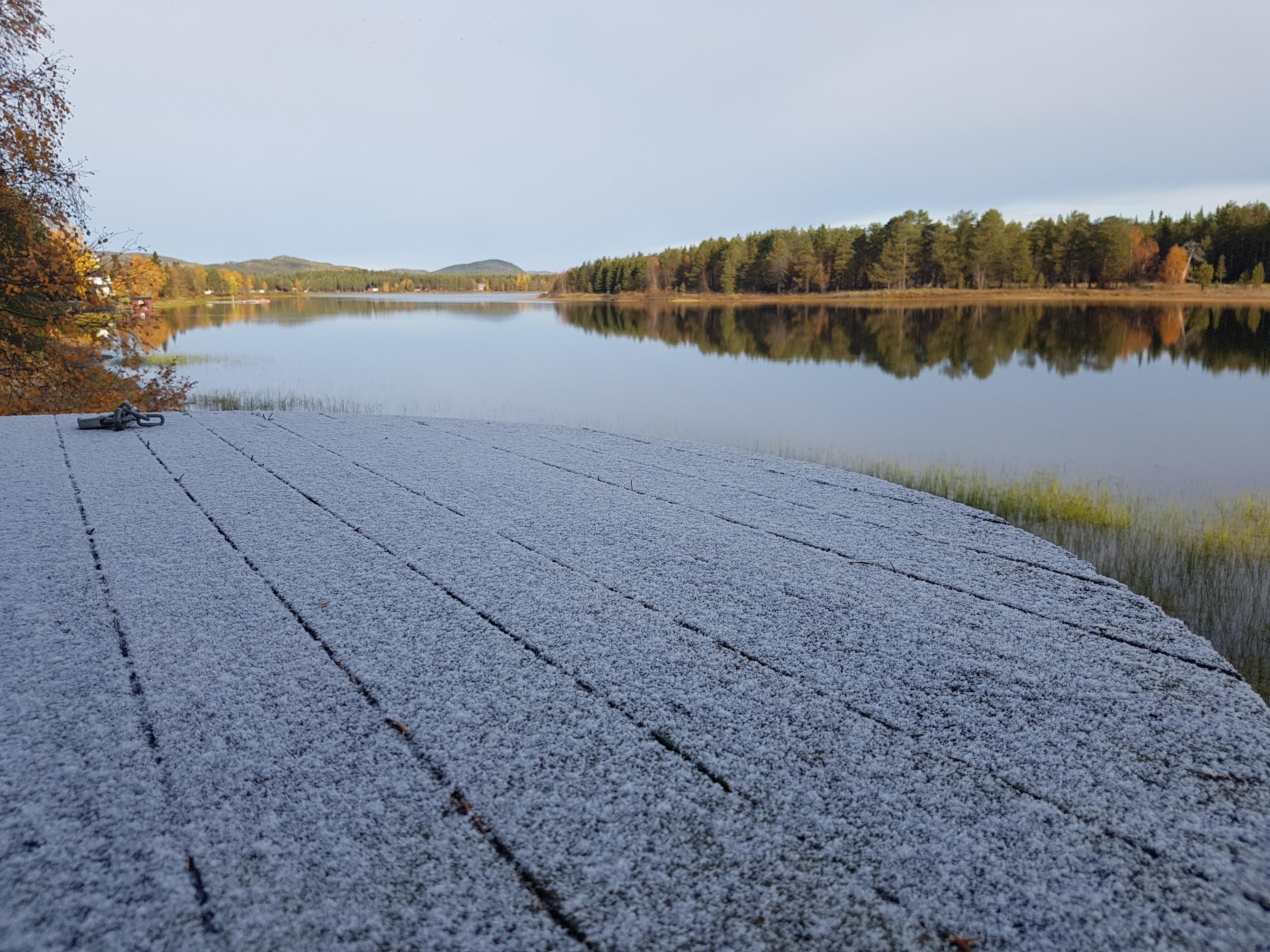 Första snön i Sorsele 2018